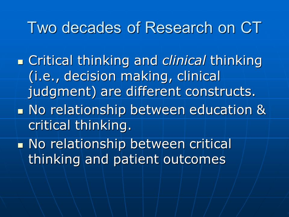 Two decades of Research on CT
