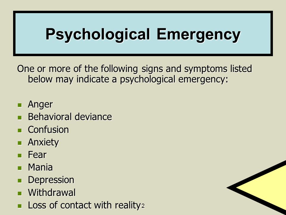 Psychological Emergency