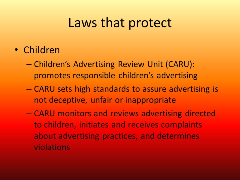 Laws that protect Children