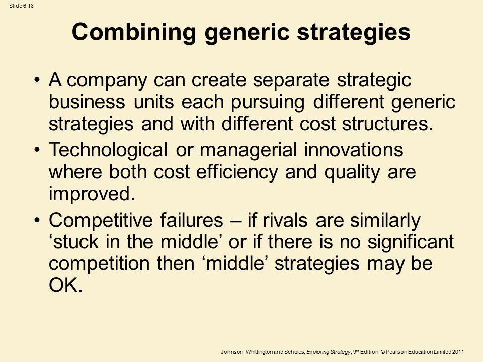 Combining generic strategies