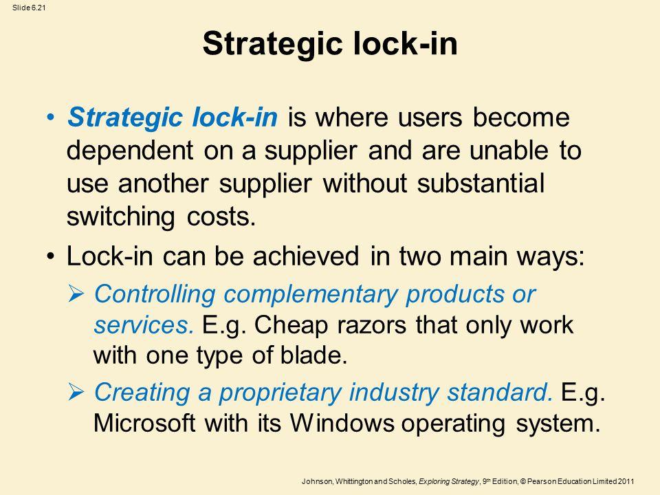 Strategic lock-in
