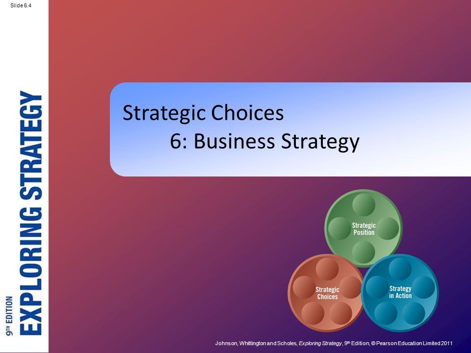 Strategic Choices 6: Business Strategy