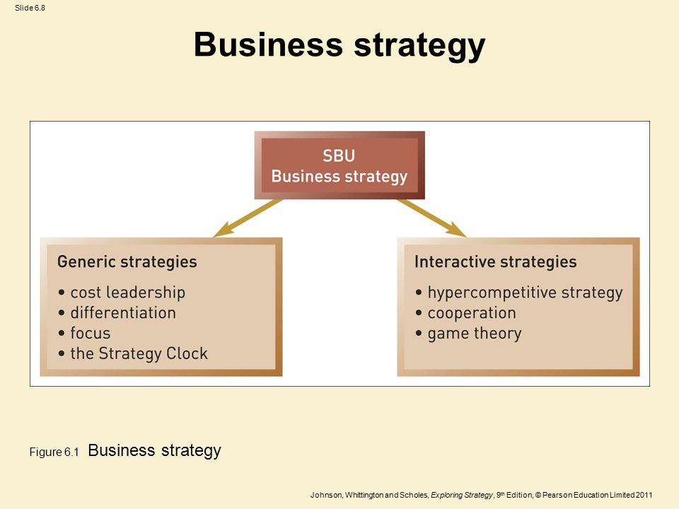Business strategy Figure 6.1 Business strategy