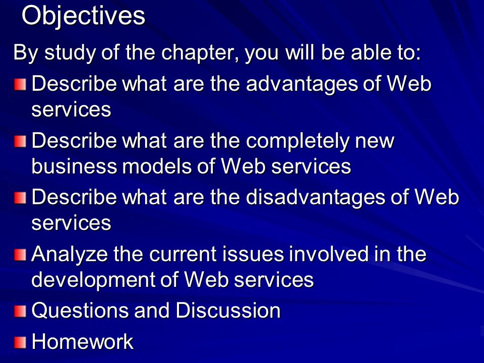 Objectives By study of the chapter, you will be able to: