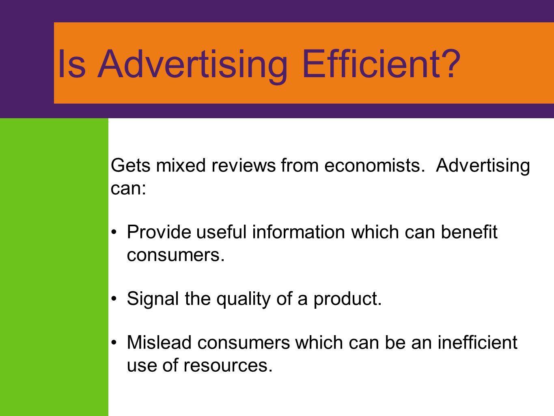 Is Advertising Efficient