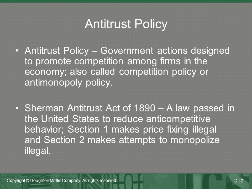 Antitrust Policy