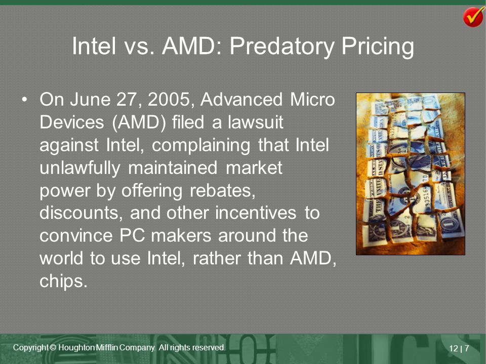 Intel vs. AMD: Predatory Pricing