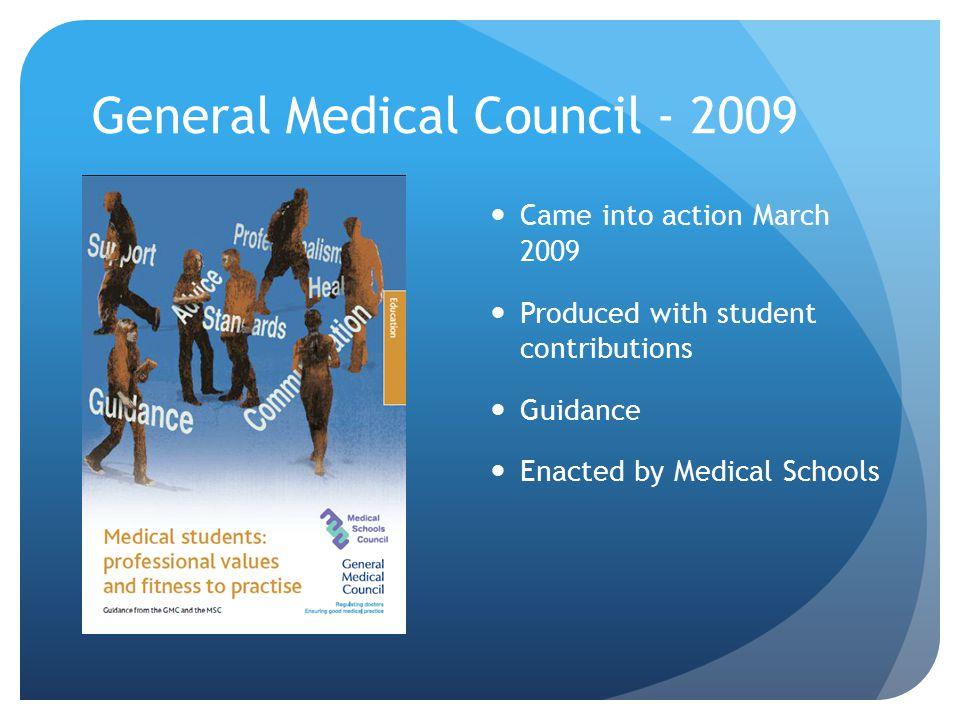 General Medical Council - 2009
