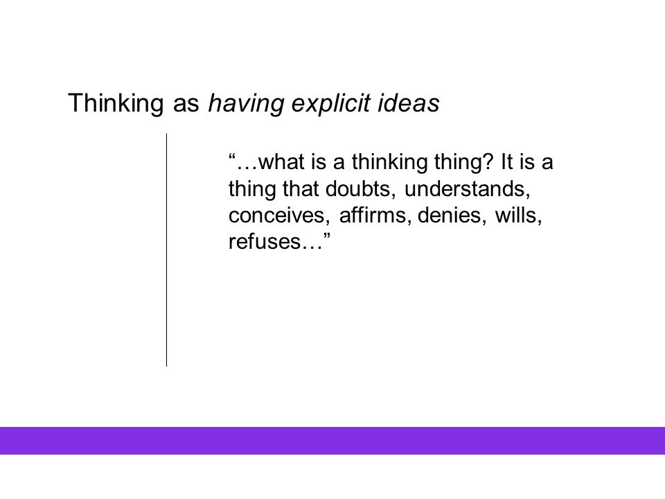 Thinking as having explicit ideas