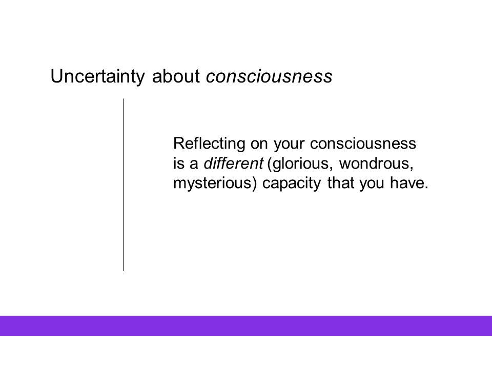 Uncertainty about consciousness