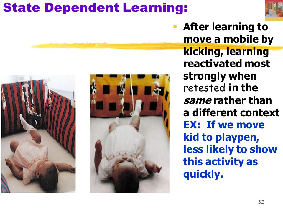 State Dependent Learning: