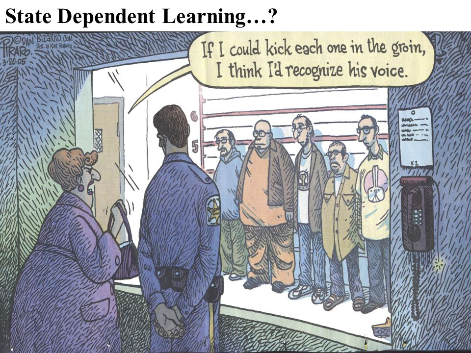 State Dependent Learning…