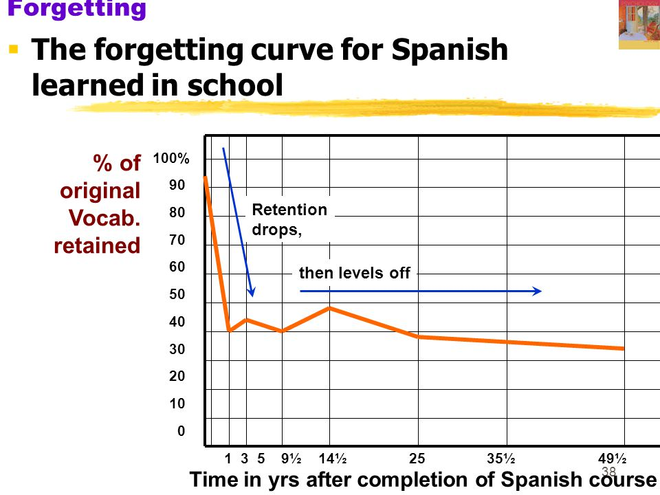 Time in yrs after completion of Spanish course