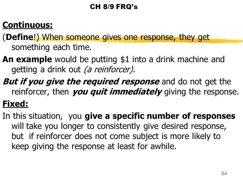 CH 8/9 FRQ's
