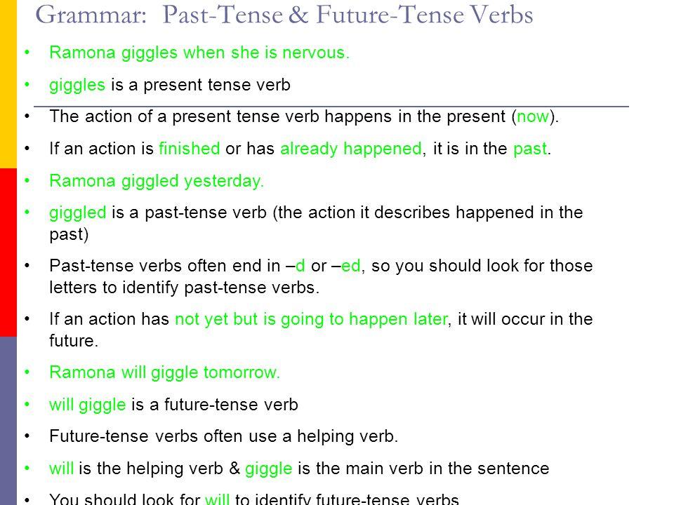 Grammar: Past-Tense & Future-Tense Verbs