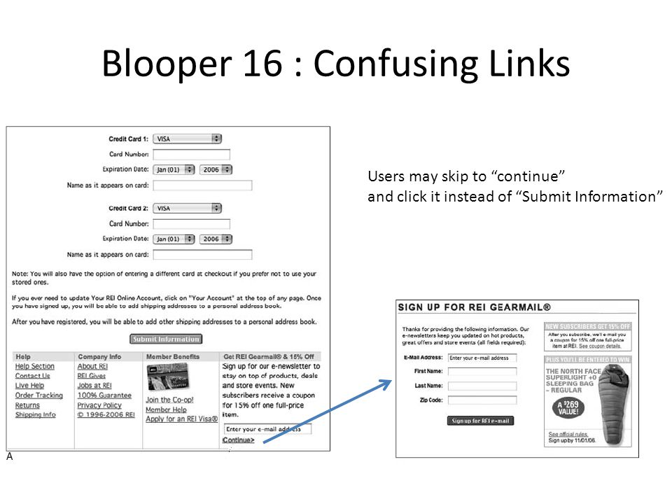 Blooper 16 : Confusing Links