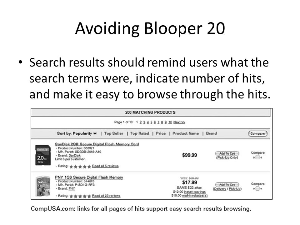 Avoiding Blooper 20