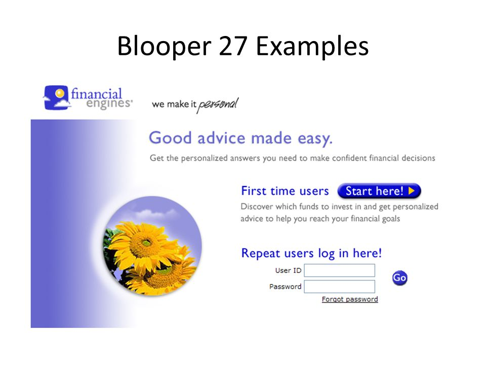 Blooper 27 Examples