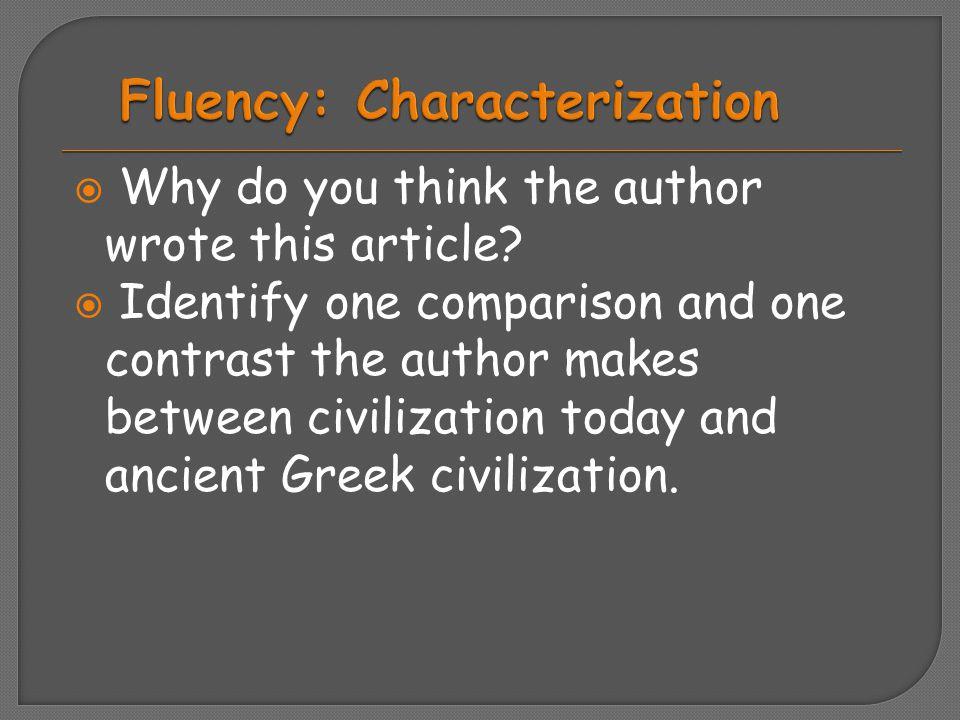 Fluency: Characterization