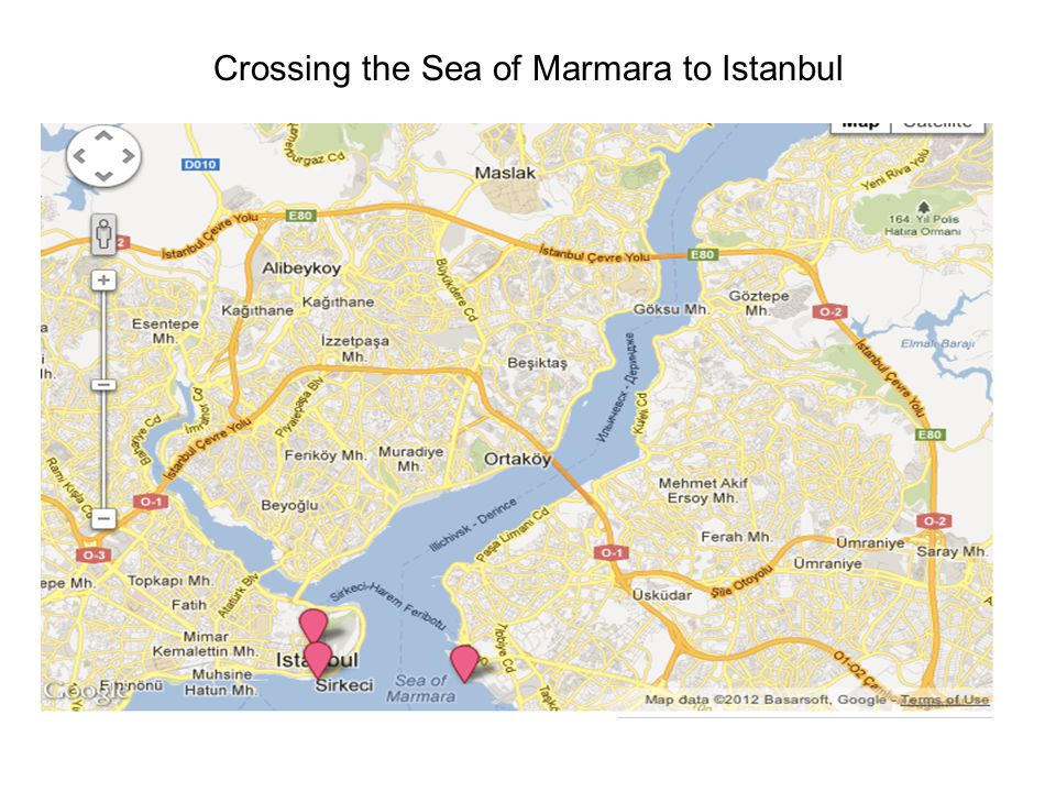 Crossing the Sea of Marmara to Istanbul