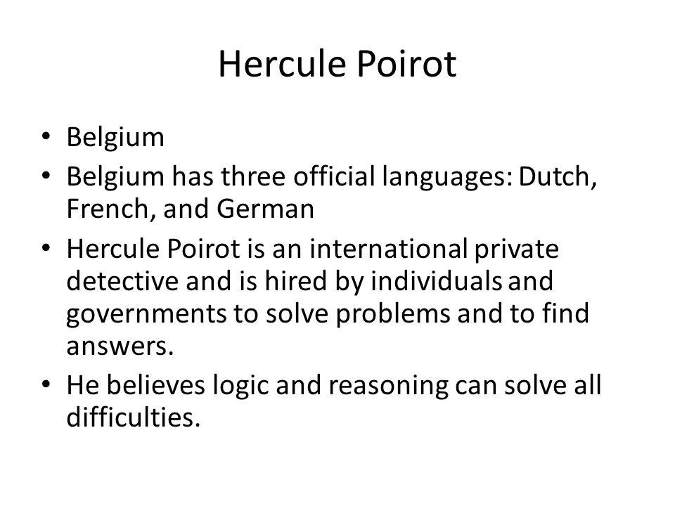 Hercule Poirot Belgium