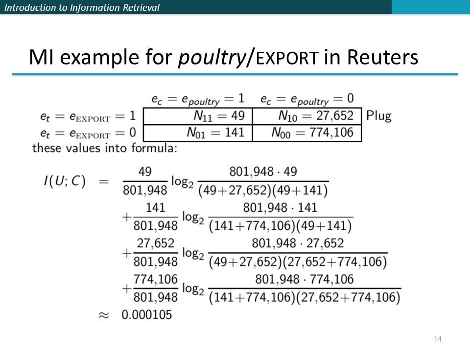 MI example for poultry/EXPORT in Reuters