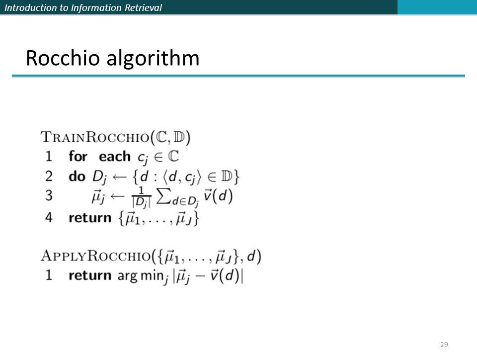 Rocchio algorithm 29