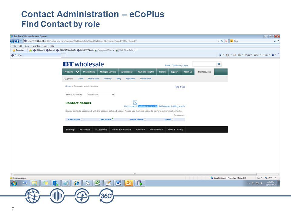 Contact Administration – eCoPlus Find Contact by role