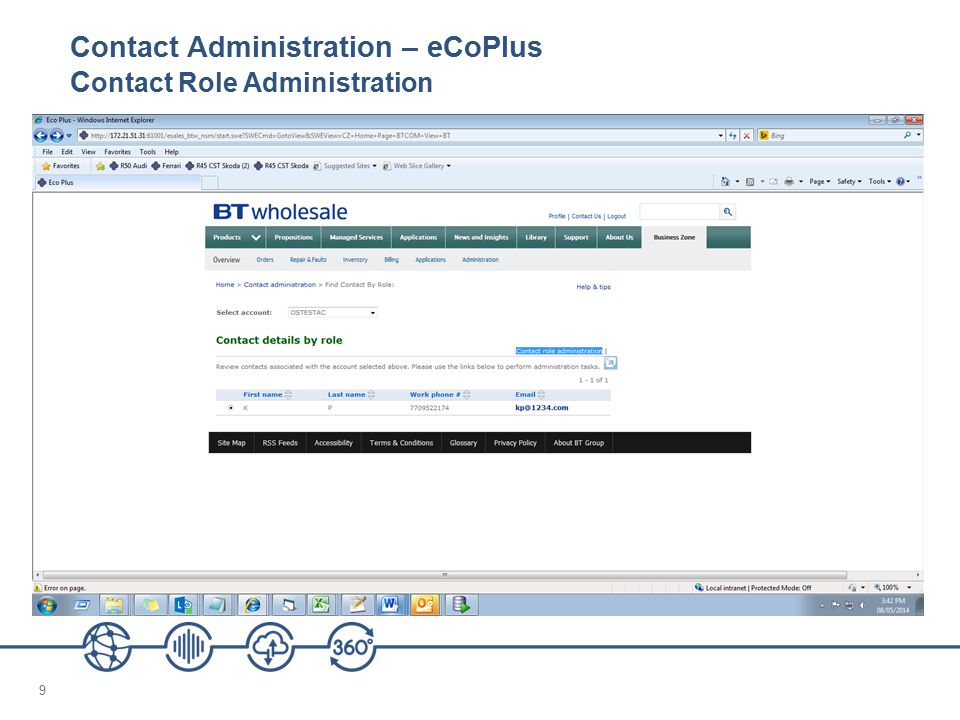 Contact Administration – eCoPlus Contact Role Administration