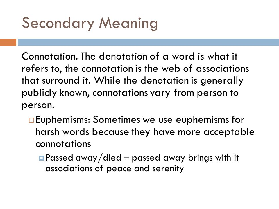 Secondary Meaning