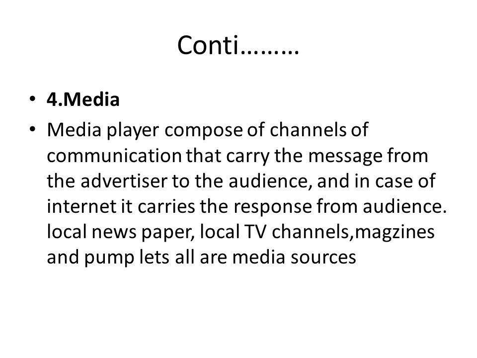 Conti……… 4.Media.