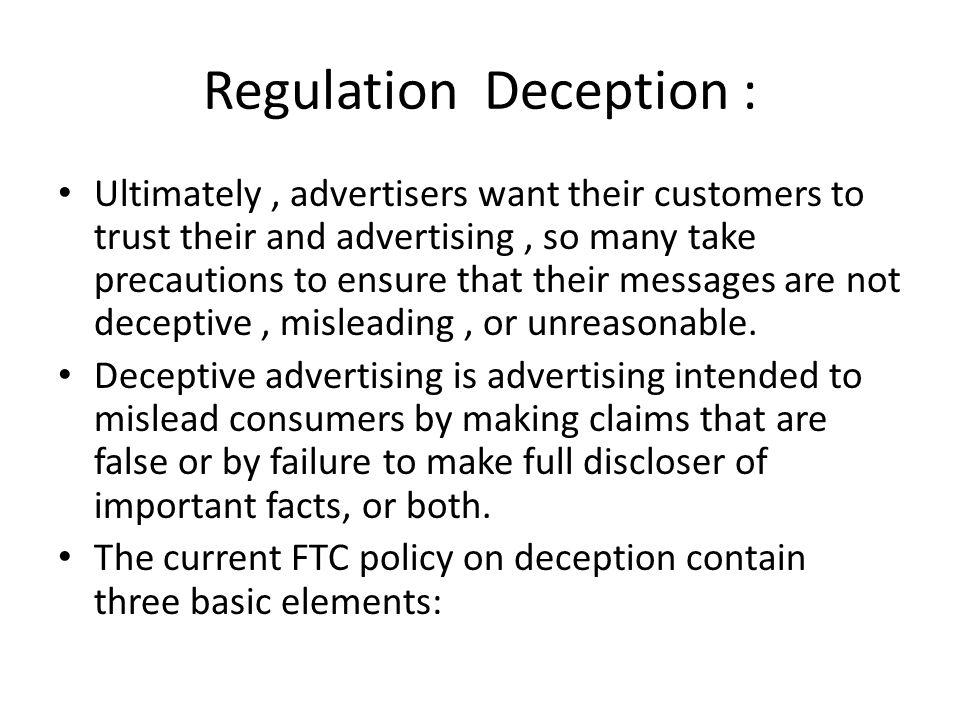 Regulation Deception :