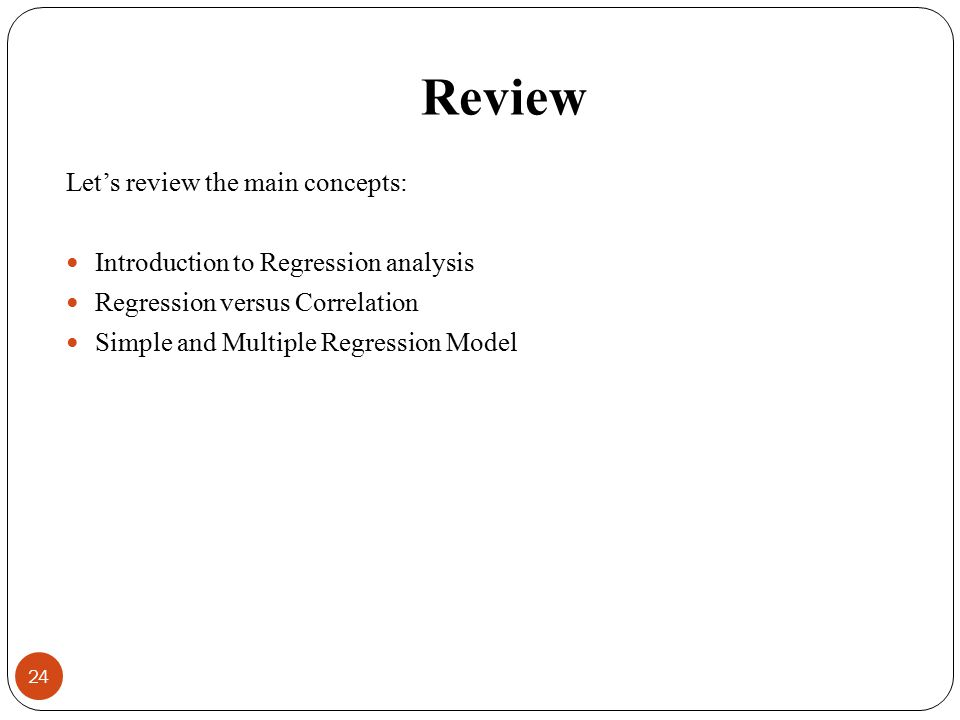 Review Let's review the main concepts: