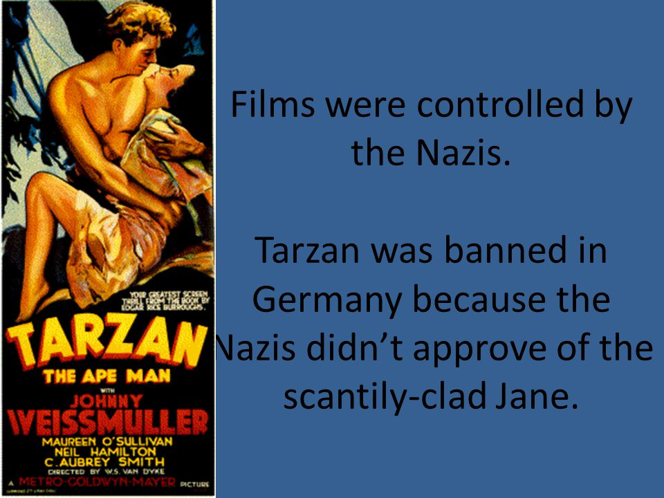 Films were controlled by the Nazis