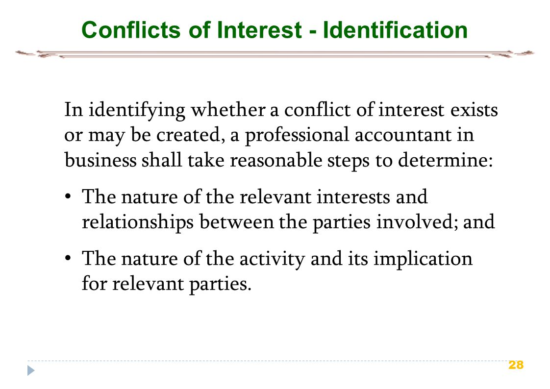 Conflicts of Interest - Identification