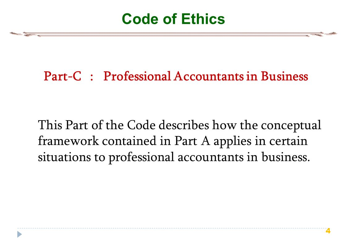 Part-C : Professional Accountants in Business