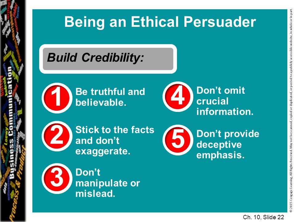 Being an Ethical Persuader