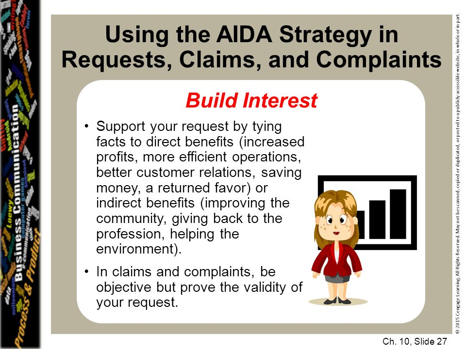 Using the AIDA Strategy in Requests, Claims, and Complaints