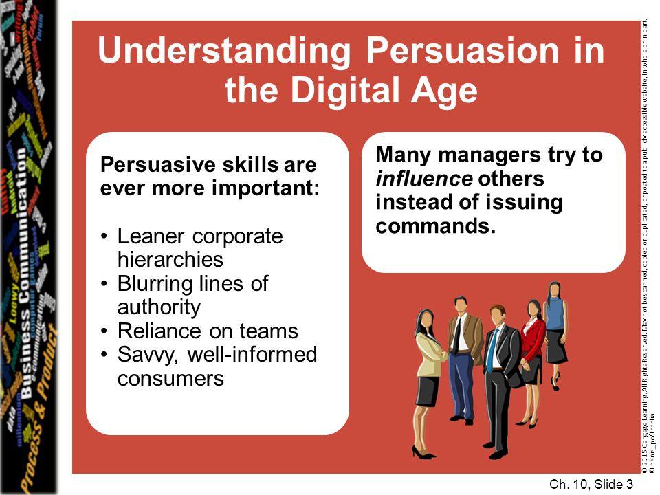 Understanding Persuasion in the Digital Age
