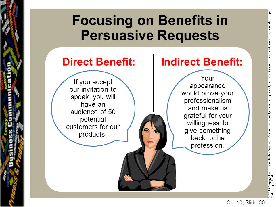 Focusing on Benefits in Persuasive Requests