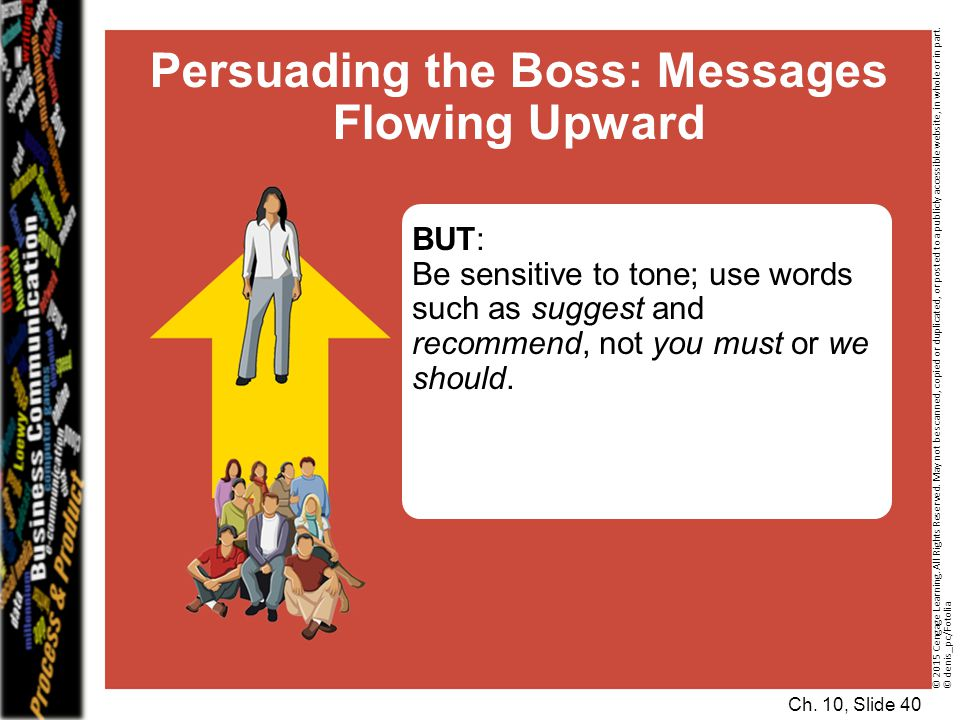 Persuading the Boss: Messages Flowing Upward