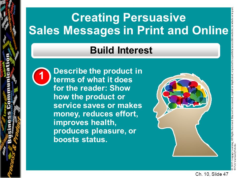 Sales Messages in Print and Online