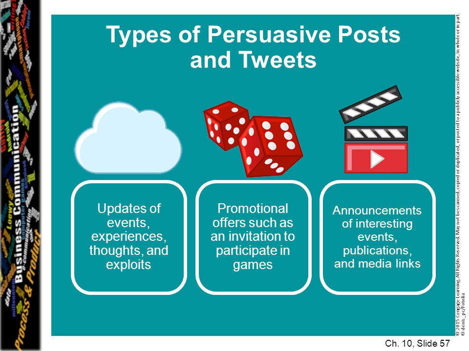 Types of Persuasive Posts and Tweets
