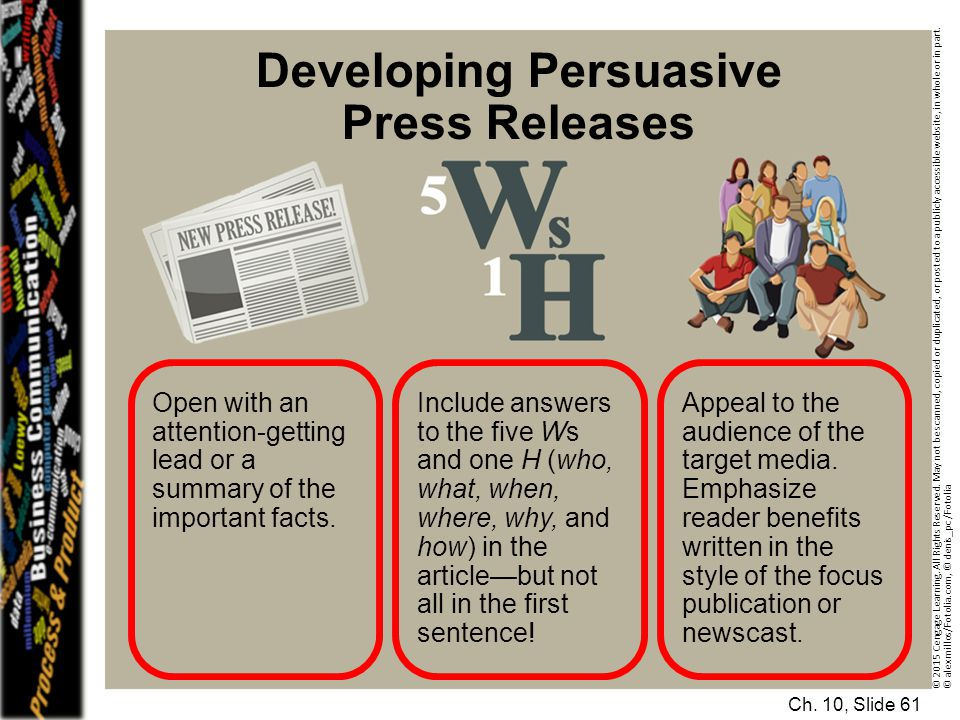 Developing Persuasive Press Releases