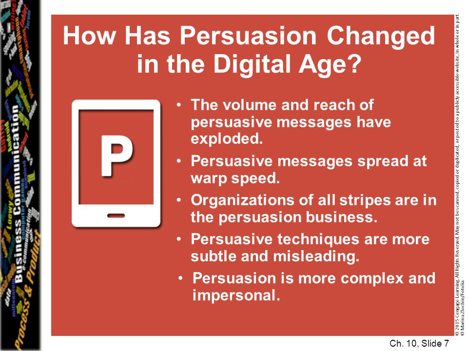 How Has Persuasion Changed in the Digital Age