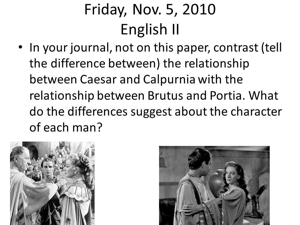 Friday, Nov. 5, 2010 English II
