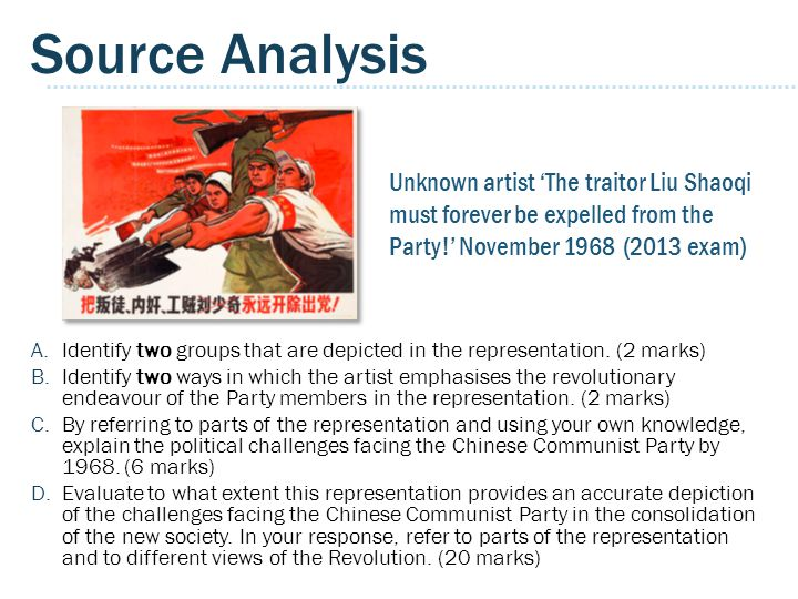 Source Analysis Unknown artist 'The traitor Liu Shaoqi must forever be expelled from the Party!' November 1968 (2013 exam)
