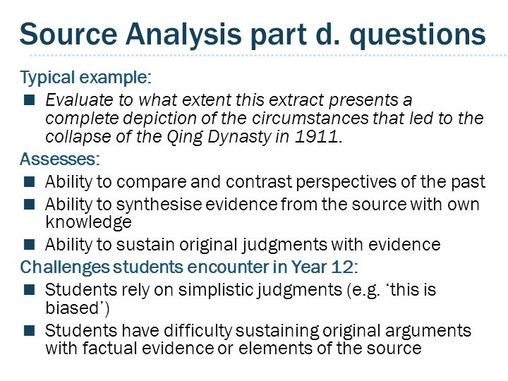 Source Analysis part d. questions