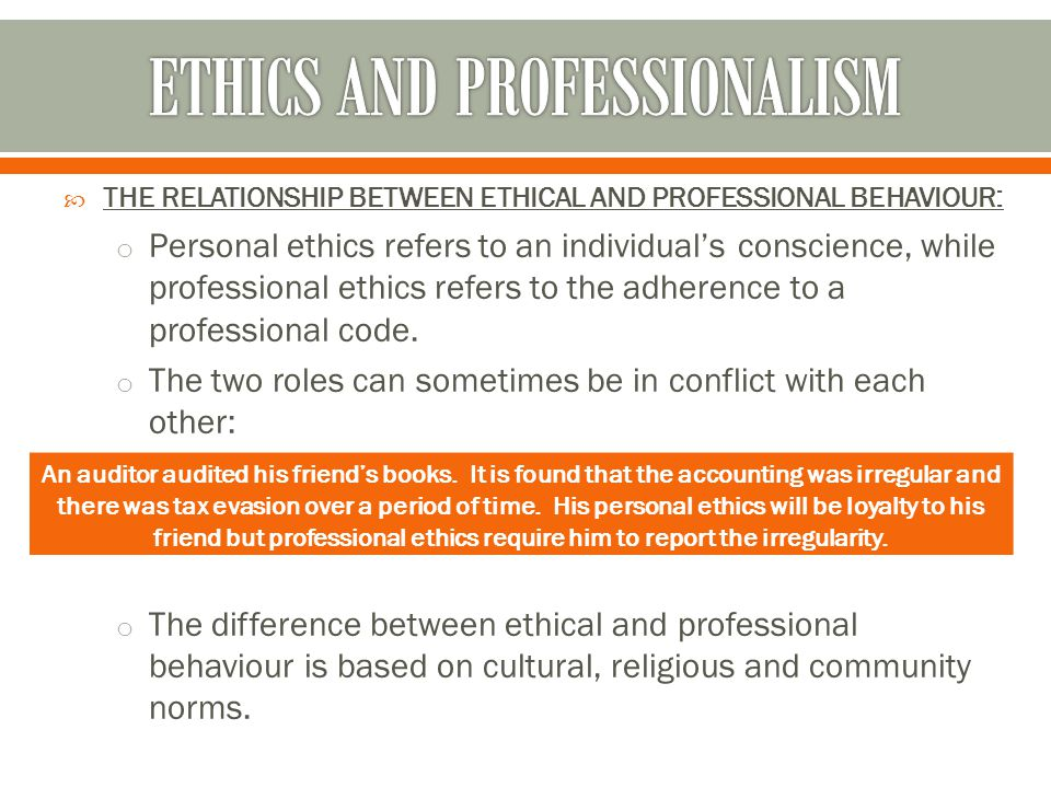 ethics and professionalism in accounting