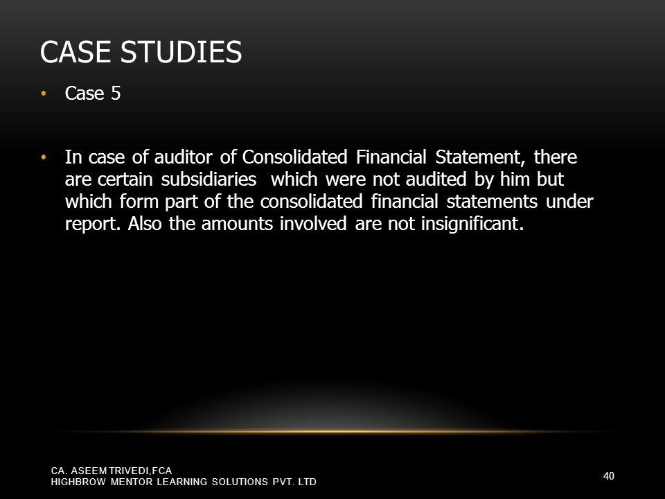 Case Studies Case 5.